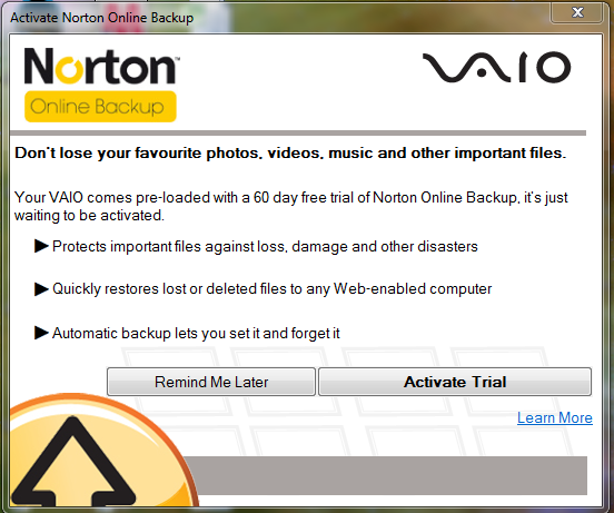 Norton reminder